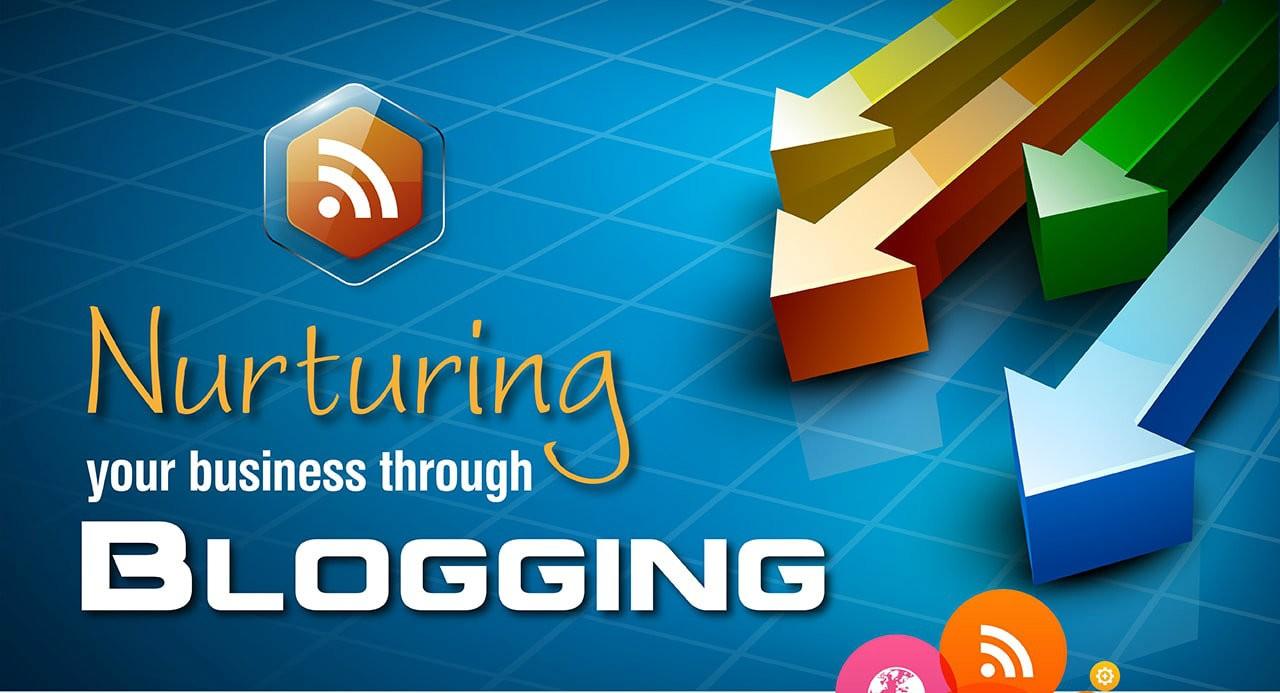 Nurturing your business through Blogging - Infographic