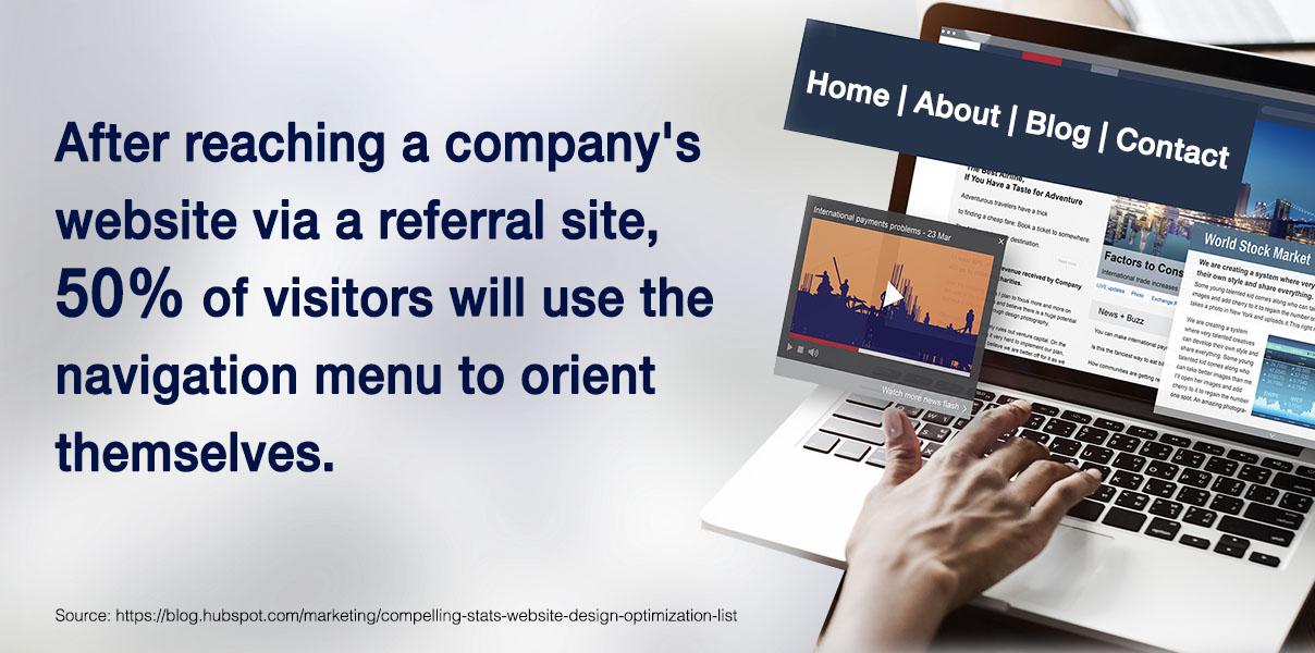 reaching a company's website
