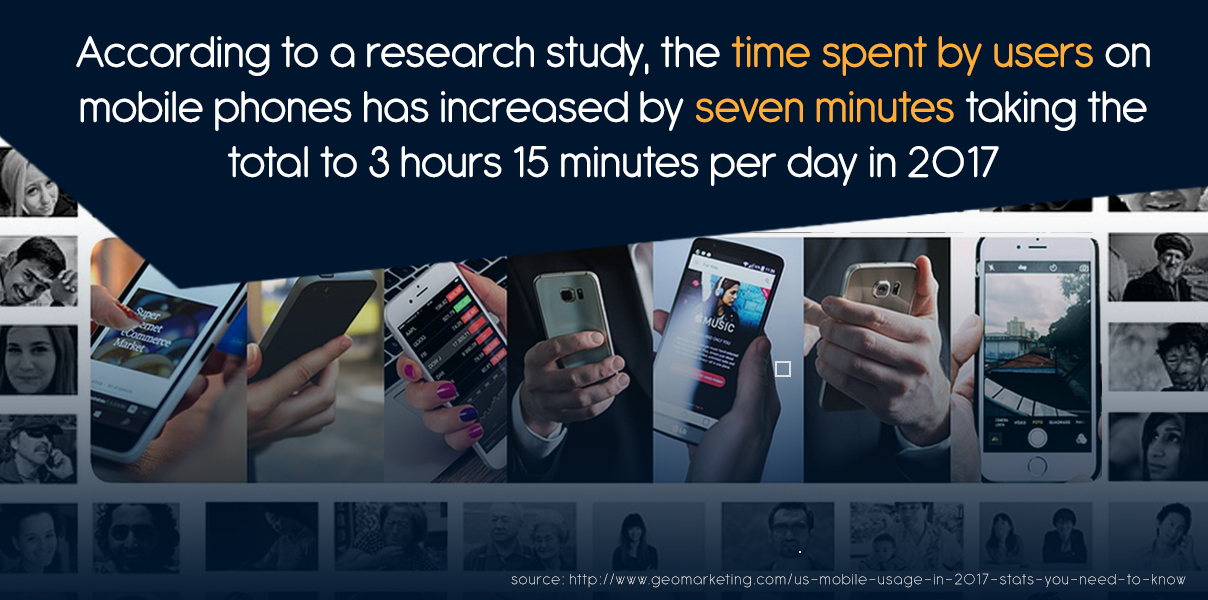 2016 to 2017, time spent per day on mobile has reportedly increased